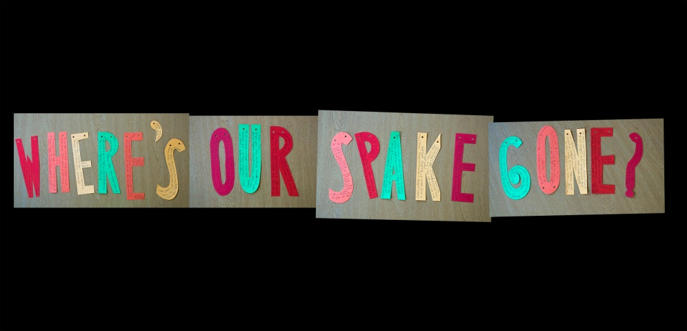 spake written on letters