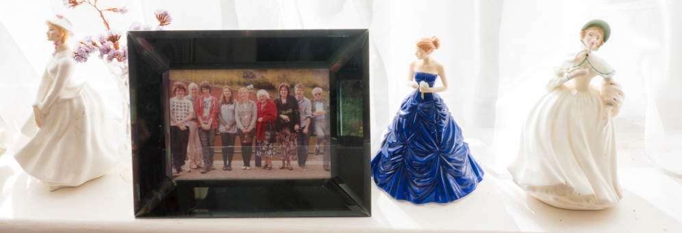 Jessica Gripton - family photo and figurines. Photo: Geoff Broadway
