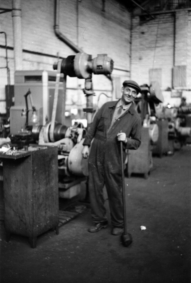 Taken in the toolroom of Birmid based in Smethwick, West Midlands around 1958, the gentleman in the picture was the works general handyman